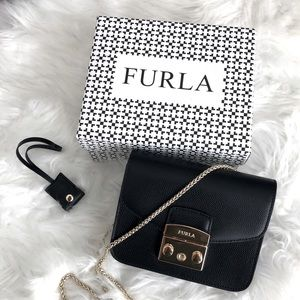 Furla black Metropolis crossbody leather bag